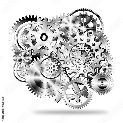 gears wheels design Poster