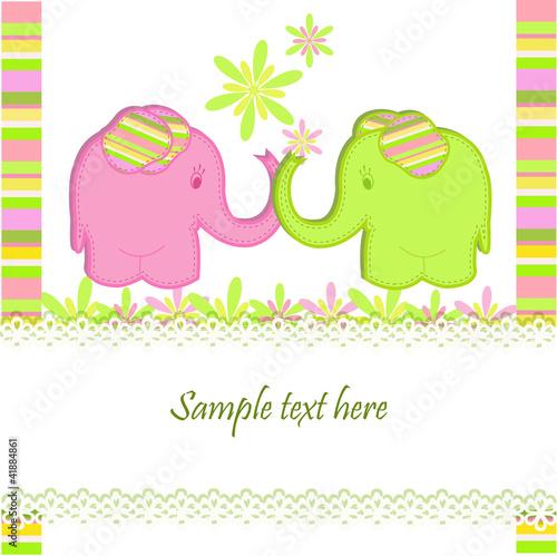 Poster Hibou Funny elephants