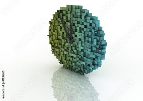 Foto op Aluminium Pixel Pixel clock