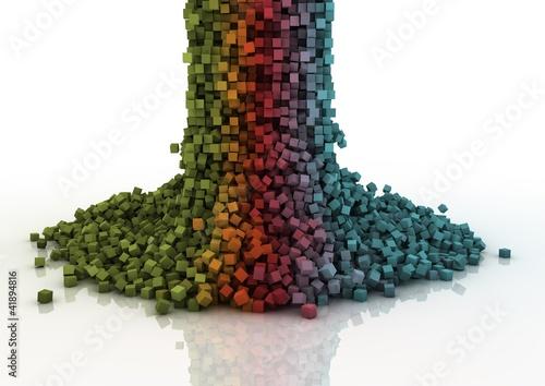 Foto op Aluminium Pixel pixel cascade