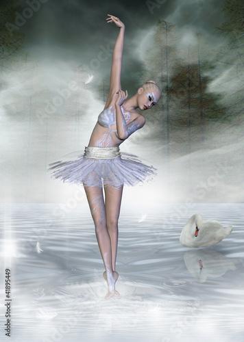 Tematy obrazów jezioro-labedzie