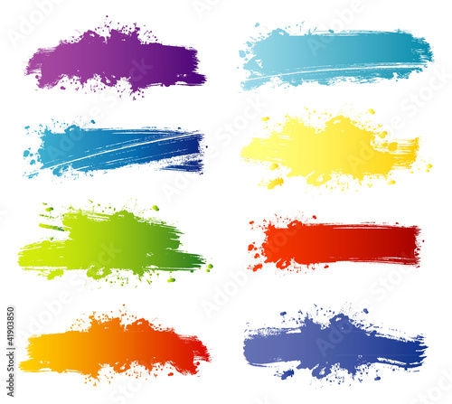 Deurstickers Vormen Vector illustration of Splash banners set