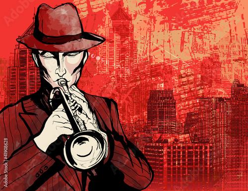 In de dag Muziekband Trumpet player
