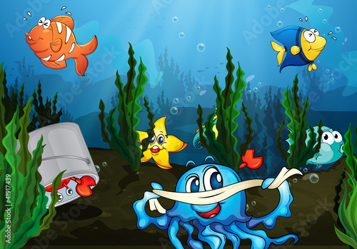 Wall Murals Submarine underwater
