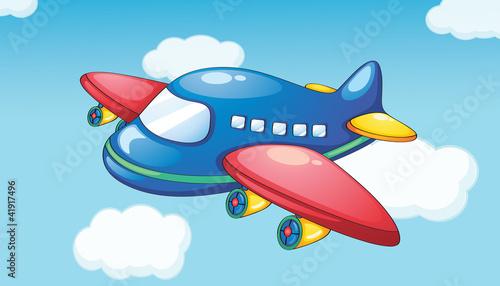 Fotobehang Vliegtuigen, ballon Plane