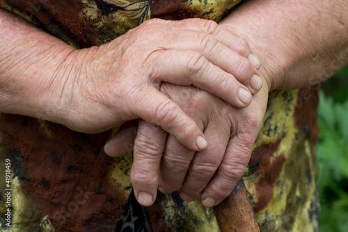 Valokuva  hands of an elderly woman