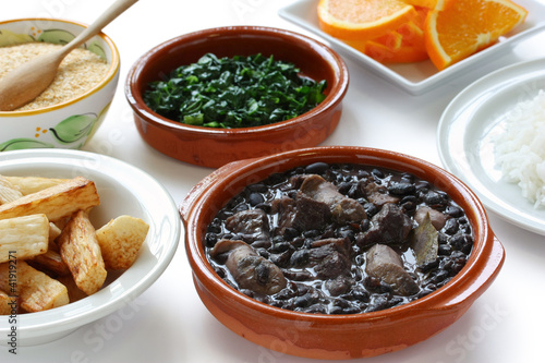 Fotografie, Obraz  feijoada, black beans and meat stew, brazilian cuisine