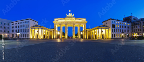 Spoed Foto op Canvas Berlijn panorama brandenburg gate berlin