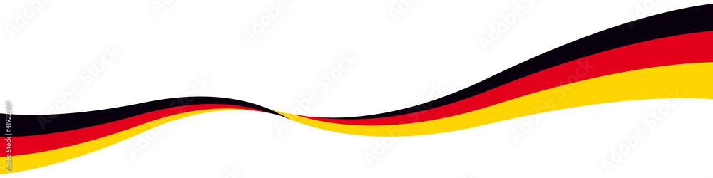 Fototapeta Schwung Linie Band Deutschland 1:4 mit QXP 9 Datei