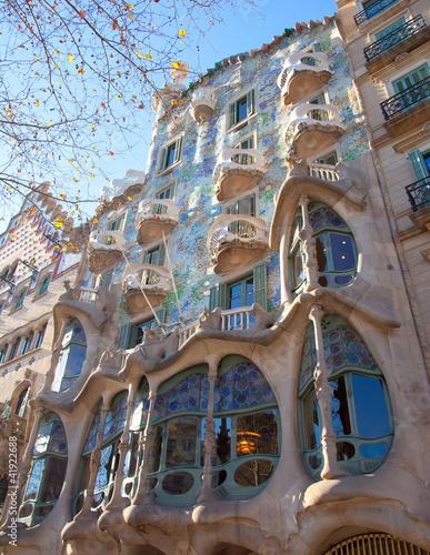 Photo  Barcelona Casa Batllo facade of Gaudi