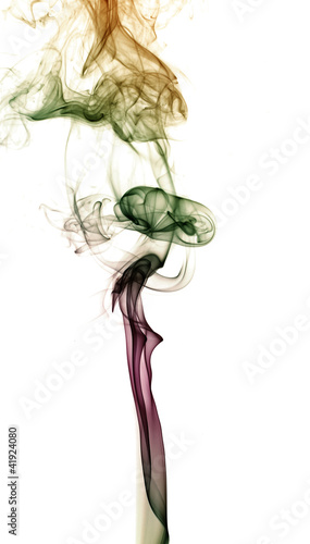 Tuinposter Abstract bloemen Abstract colorful background made with real smoke