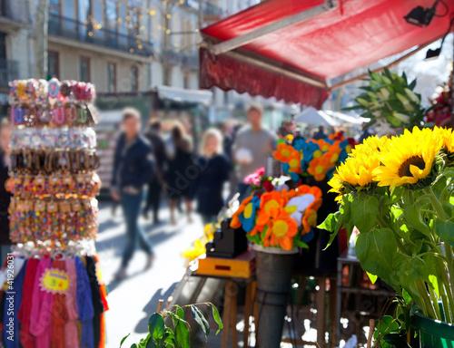 Papiers peints Barcelona Barcelona Ramblas street life in autumn