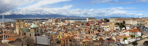 Obraz na plátně Cagliari panorama