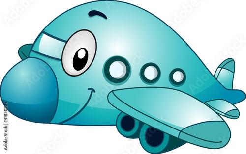 In de dag Vliegtuigen, ballon Airplane Mascot