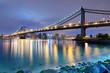 Manhattan Bridge Spans the East River towards Manhattan