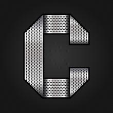 Letter Metal Chrome Ribbon - C