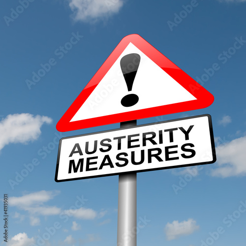 Austerity concept. Wallpaper Mural