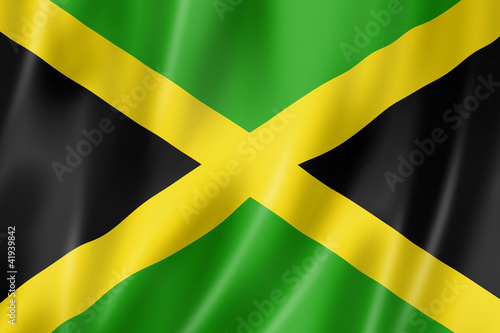 Jamaican flag Wallpaper Mural