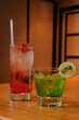 red and green cosktails