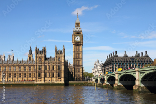 Fotobehang Londen Westminster Bridge with Big Ben in London