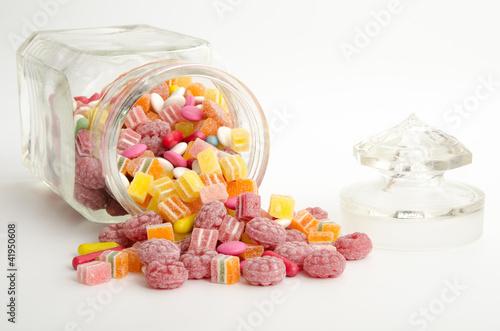 Poster Confiserie Bonbonglas mit Süßigkeiten