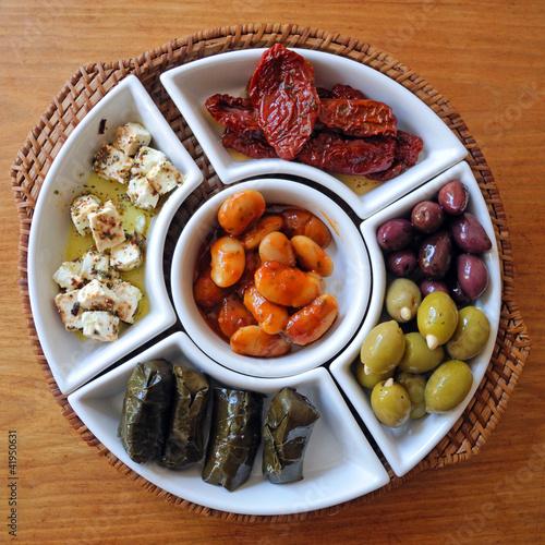 Door stickers Appetizer Gemischte mediterrane Vorspeisen
