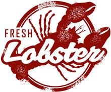 Fresh Lobster Seafood Stamp