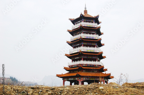 In de dag China Chinese ancient pagoda