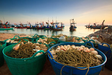 Fishing Nets On The Waterfront...