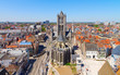 canvas print picture - Ghent, Flanders, Belgium, from the Belfry tower