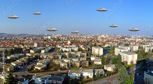 Foto op Canvas UFO soucoupes volantes