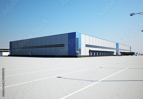 Obraz warehouse exterior - fototapety do salonu
