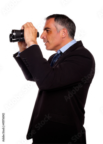 Fototapety, obrazy: Latin senior businessman looking forward