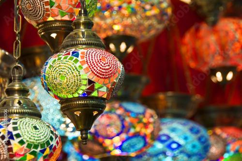 Foto op Plexiglas Turkije Lampes orientales au Grand Bazar d'Istambul - Turquie