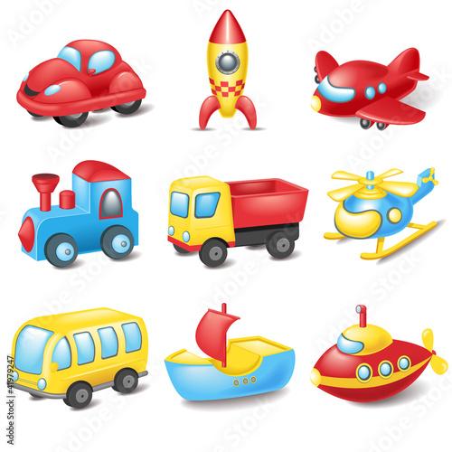 Staande foto Cartoon cars Cartoon transport