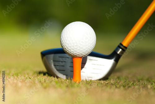 Poster Golf golf equipment
