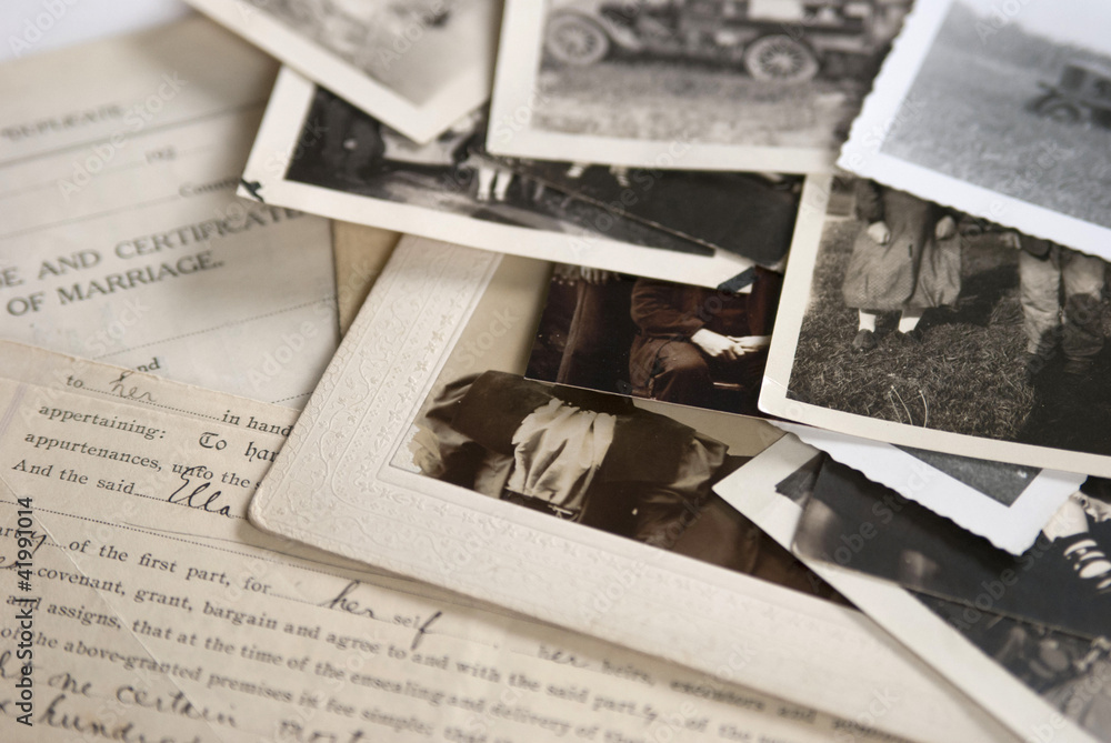 Fototapety, obrazy: Old Photographs and Documents