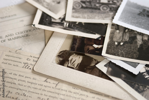 Old Photographs and Documents Wallpaper Mural