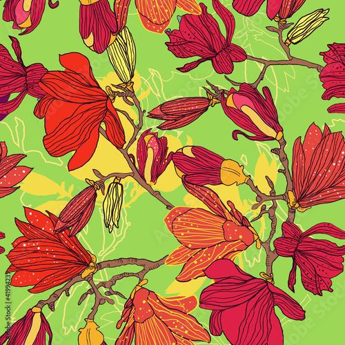 Fotografija  Seamless floral texture