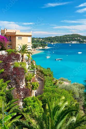 beautiful mediterranean landscape, view of luxury resort Canvas Print