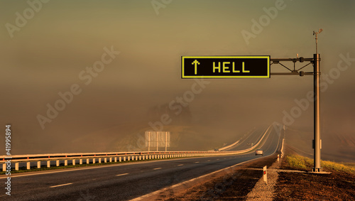 Photo  Road to hell