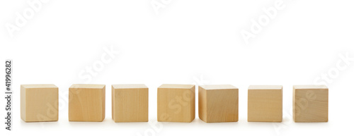 Wooden cubes in row Canvas Print