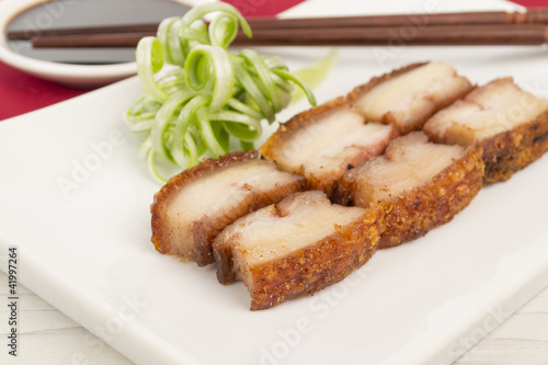 Siu Yuk - Chinese crispy roasted pork belly & soy / hoisin