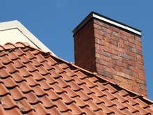 Tile Roof And Chimney