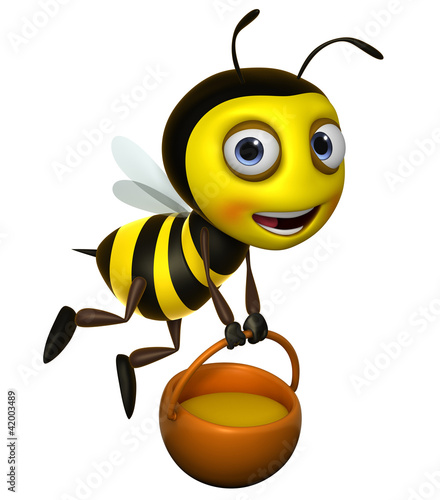 Keuken foto achterwand Sweet Monsters 3d bee