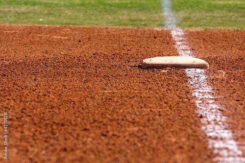 Fotografie, Obraz  Baseball First Base