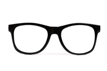Black Frame Glasses Isolated O...