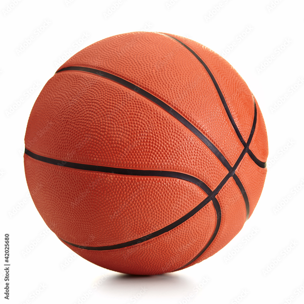 Fototapety, obrazy: Basketball ball over white background