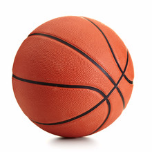 Basketball Ball Over White Bac...