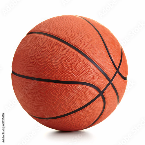Foto op Aluminium Bol Basketball ball over white background